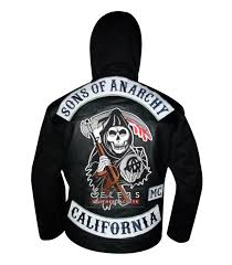 sons of anarchy motorcycle black leather jacket