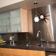 Modern Kitchen With Frosted Glass Cabinets