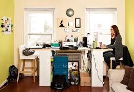 Office area in living room Desk Layout Home Office Oprahcom Peter Walshs Ten Steps To Home Office Organization