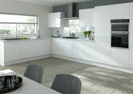 white kitchen cupboard doors high gloss white kitchen doors grey feature wall white tile high gloss