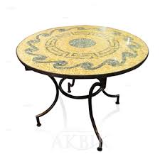rt612 moroccan mosaic tile table round dining