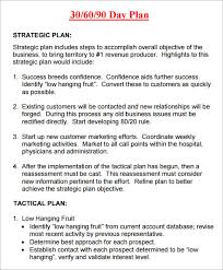 30 60 90 Business Plan Template Free 30 60 90 Day Sales Plan