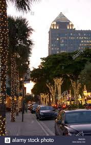 lighting and decorations on las olas boulevard in fort lauderdale florida usa