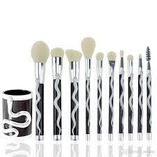 snake makeup brushes set foundation powder contour concealer blush eyeshadow eyelashes estic brush beauty tool makeup primer makeup sets from rancai