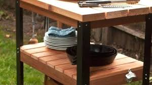 bbq prep table canada grill side outdoor stylish how to make a rolling cart and station barbecue prep table plans outdoor
