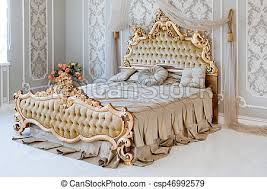 luxury bed furniture. Delighful Furniture Luxury Bedroom In Light Colors With Golden Furniture Details Big  Comfortable Double Royal Bed Elegant Classic Interior In Bed Furniture R