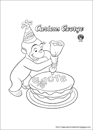 George Coloring Pages Curious George Coloring Pages Pdf Skanixinfo
