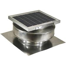active ventilation 365 cfm mill finish 5 watt solar powered roof mounted exhaust attic fan
