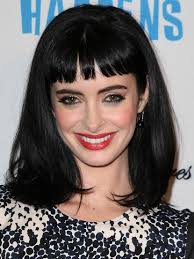 black um straight hairstyles with blunt bangs
