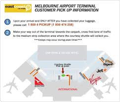 Sign up to receive news from msp airport we're here to help find the parking that works best for you—whether you're jetting off across the world or just picking someone up. Melbourne Airport Terminals Customer Pick Up Information East Coast Car Rentals