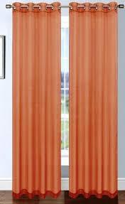 sheer orange curtains orange sheer curtains uk platinum sheer voile curtain with grommets rust orange sheer