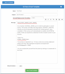 Global Email Invitation Templates For Panels Surveyanalytics