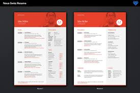 Neue Swiss Resume Template On Behance