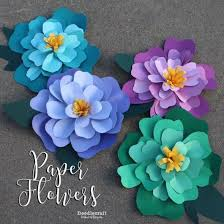 Paper Crafted Flowers Paper Flowers Crafts Crafting