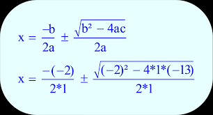 quadratic equation substitute the values of the coefficients a b and c into