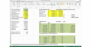 2019 Tax Estimate Spreadsheet