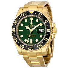 rolex gmt master ii green dial 18k yellow gold rolex oyster rolex gmt master ii green dial 18k yellow gold rolex oyster automatic men s watch 116718gso