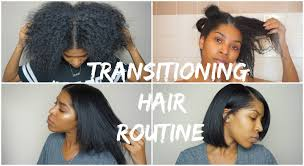 Transition Hair Style transitioning hair wash blow dry & flat iron 17 months post 4448 by stevesalt.us