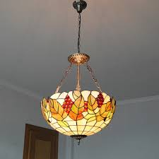 mediterranean tiffany style g vine pattern flush mount light throughout vintage stained glass hanging lamp prepare 10