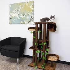 Kitty Mansions Oak Cat Tree Furniture Free Shipping Today