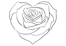 Coloring pages for roses (nature) ➜ tons of free drawings to color. Roses And Hearts Coloring Pages Best Coloring Pages For Kids