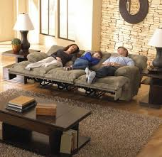 fabric reclining sofas. Brilliant Sofas Voyager Lay Flat Reclining Sofa With Drop Down Table In Brandy Fabric By  Catnapper  43845 To Sofas N