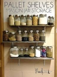 mason jar shelf mason jar organizer