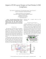 Emi Emc Standards For Pcb Design Pdf Impact Of Pcb Layout Design On Final Products Emi