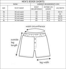 Size Guide Alas Mens Boxer Shorts Thread Harvest