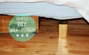 image of diy bed risers