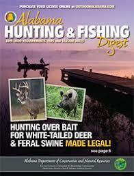 Alabama Hunting Fishing Seasons Regulations 2019