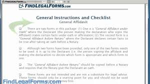 General Affidavit Example Sample General Affidavit Form YouTube 1