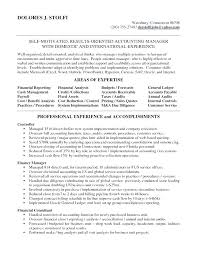 Sample Resume For Accounting Manager Senior Accounting Manager Resume Sample Letsdeliver Co