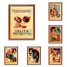 Vintage Film Poster Türkei Türkische Lolita Film Kraft Poster Klassische  Leinwand Gemälde Wand Aufkleber Home Decor Geschenk|Painting & Calligraphy