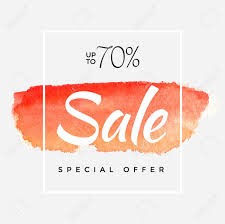 Watercolor Special Offer Super Sale Flyer Banner Poster Pamphlet