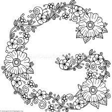 fl alphabet letter g coloring pages