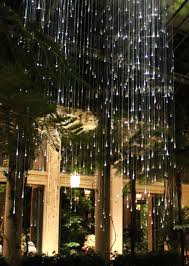 fiber optics crystal drops chandelier