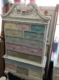 multi colored painted furniture. Vintage Inspired Shabby Chic Multi-Colored Queen Anne Cabinet Dresser On Etsy Multi Colored Painted Furniture