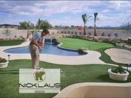 synthetic turf bocce ball putting green by southwest greens