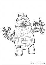 Small Picture Monsters vs Aliens coloring pages on Coloring Bookinfo