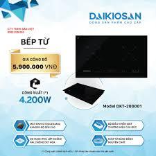 Bếp từ Daikiosan DKT-200001 - 2 vùng nấu lắp âm CTY TNHH SÂN VIỆT, giá tốt  nhất 5,900,000đ! Mua nhanh tay!