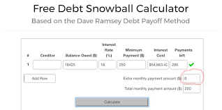 debt snowball calculator free free debt snowball calculator money nomad