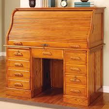 old secretary desk and rolltop puter desk