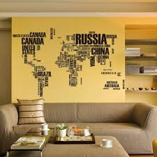 map of decor aliexpress removable letters world map wall stickers map room decor