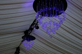 fibre optic chandelier wedding