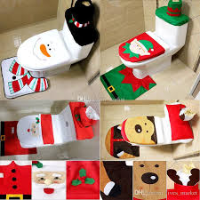 4 design decoration santa elk elf toilet seat covers rug hotel bathroom set xmas gift wx9 91 toilet seat covers decoration