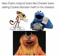 Selling Flyers New Flyers Mascot Looks Like Chester Been Selling Cookie Monster