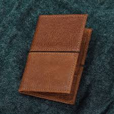 handcrafted leather passport wallet in brown from mexico sleek style in brown
