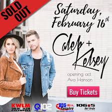 Caleb + Kelsey are coming to New London! | Big Country 100.1 FM |  willmarradio.com
