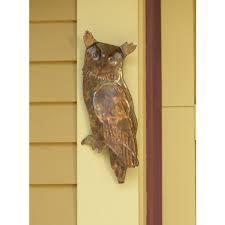metal owl indoor outdoor wall decor